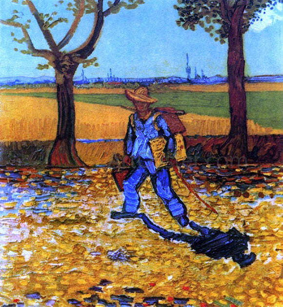 Vincent Van Gogh The Painter on His Way to Work - Canvas Art Print