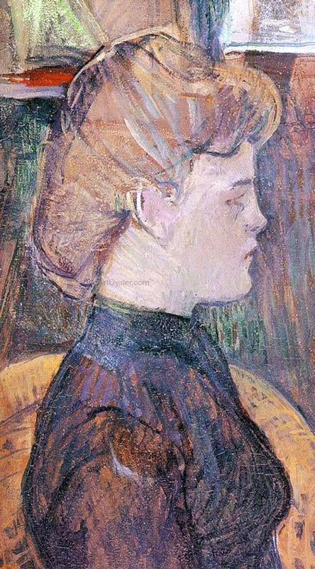 Henri De Toulouse-Lautrec The Painter's Model Helene Vary in the Studio - Canvas Art Print