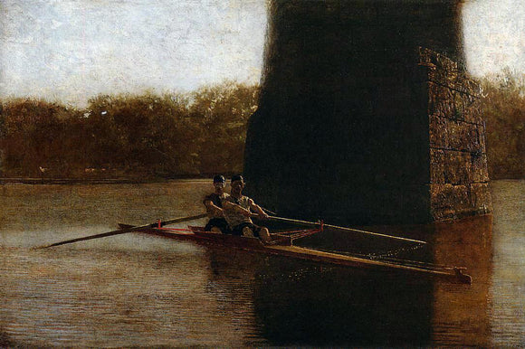 Thomas Eakins The Pair Oared Shell - Canvas Art Print