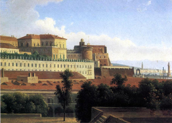 Alexandre-Hyacinthe Dunouy The Palazzo Reale and the Harbor, Naples - Canvas Art Print