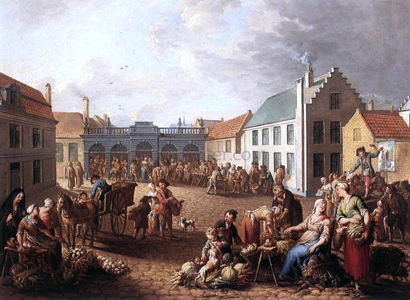 Jan Antoon Garemijn The Pandreitje in Bruges - Canvas Art Print