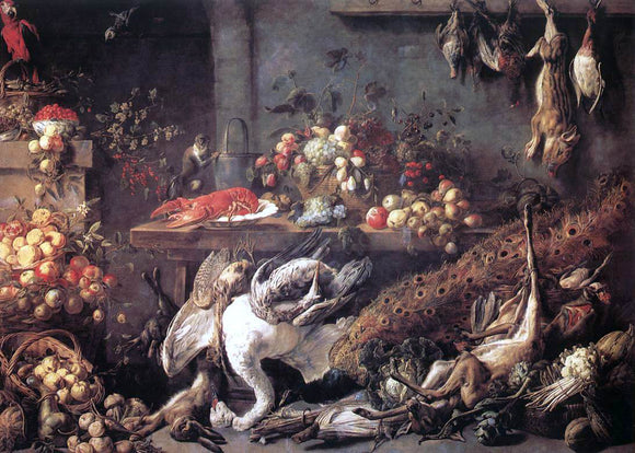 Adriaen Van Utrecht The Pantry - Canvas Art Print