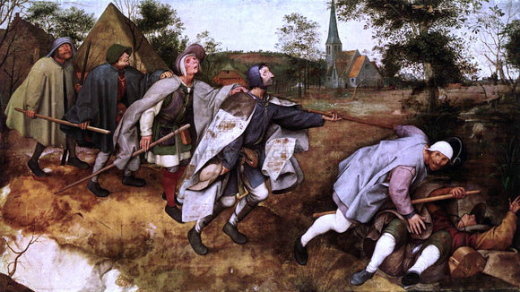 The Elder Pieter Bruegel The Parable of the Blind Leading the Blind - Canvas Art Print