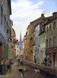 Eduard Gaertner The Parochialstrasse in Berlin - Canvas Art Print