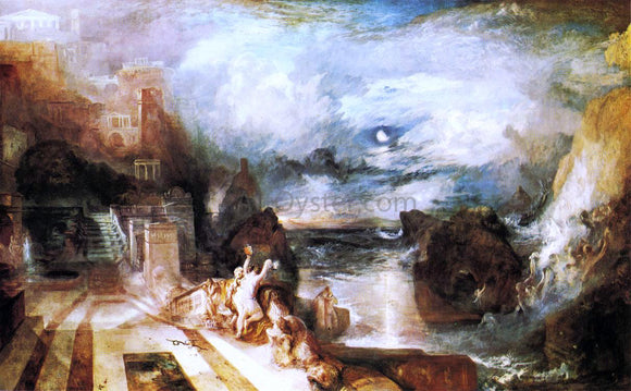 Joseph William Turner The Parting of Hero and Leander - from the Greek of Musaeus - Canvas Art Print
