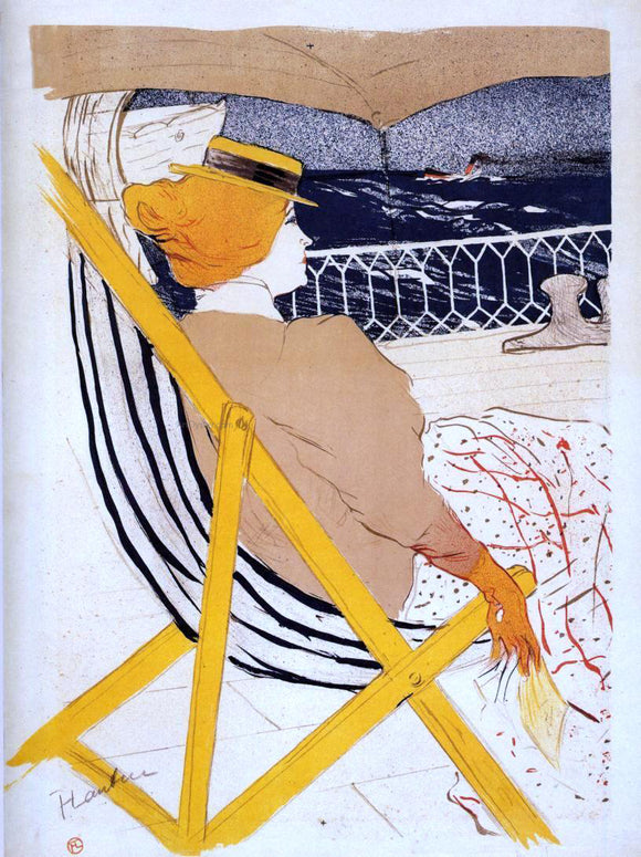Henri De Toulouse-Lautrec The Passenger in Cabin 54 (also known as The Cruise) - Canvas Art Print