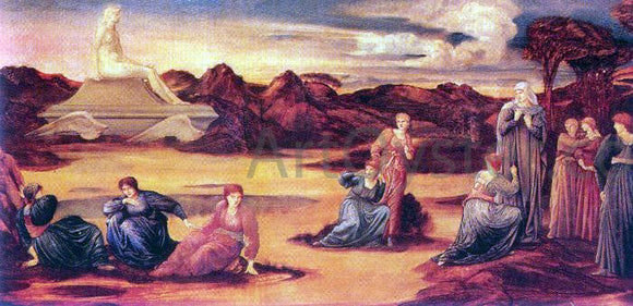 Sir Edward Burne-Jones The Passing of Venus - Canvas Art Print