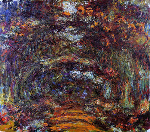 Claude Oscar Monet The Path under the Rose Arches, Giverny - Canvas Art Print
