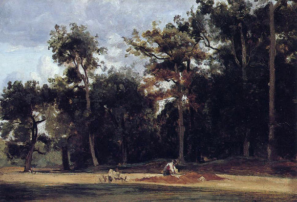 Jean-Baptiste-Camille Corot The Paver of the Chailly Road - Canvas Art Print