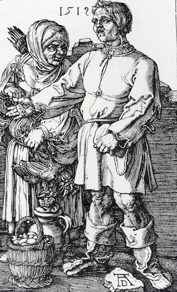 Albrecht Durer The Peasant And His Wife At Market - Canvas Art Print