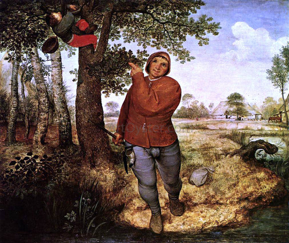 The Elder Pieter Bruegel The Peasant and the Birdnester - Canvas Art Print