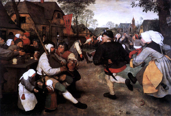 The Elder Pieter Bruegel The Peasant Dance - Canvas Art Print