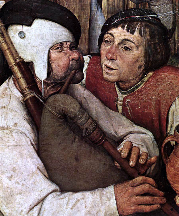 The Elder Pieter Bruegel The Peasant Dance (detail) - Canvas Art Print