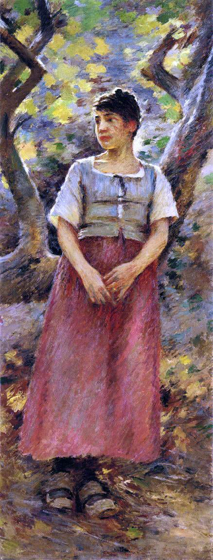 Theodore Robinson The Peasant Girl - Canvas Art Print