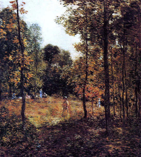 Willard Leroy Metcalf The Picnic - Canvas Art Print