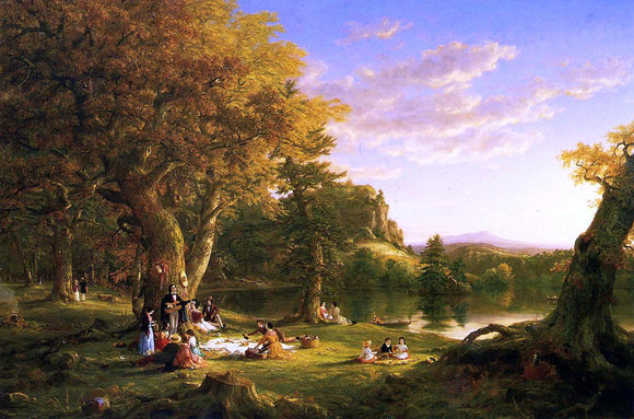 Thomas Cole The Picnic - Canvas Art Print