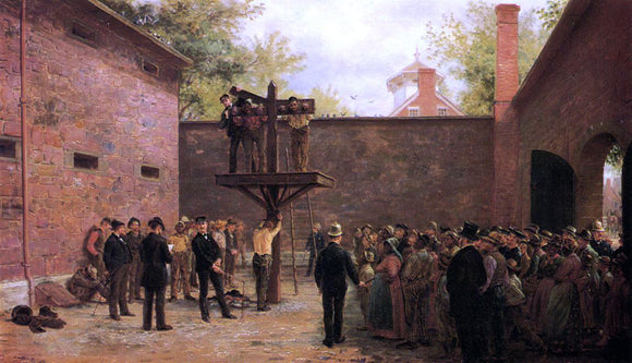 Edward Lamson Henry The Pillory and Whipping Post, New Castle, Delaware - Canvas Art Print