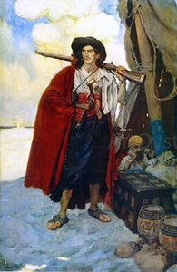 Howard Pyle The Pirate was a Picturesque Fellow - Canvas Art Print