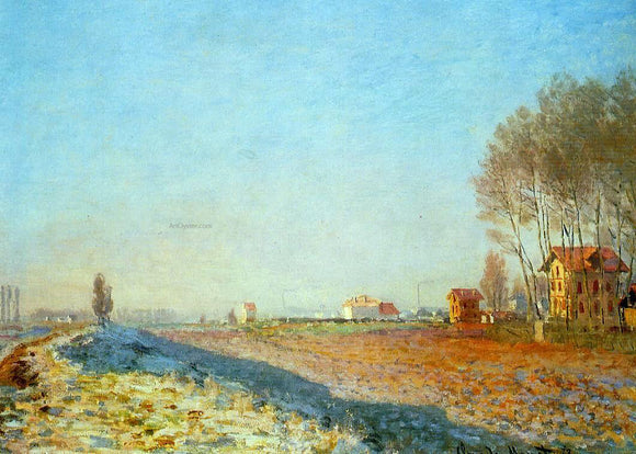 Claude Oscar Monet The Plain of Colombes, White Frost - Canvas Art Print