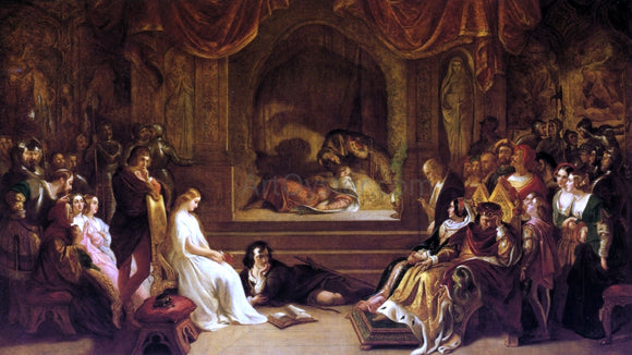 Daniel Maclise The Play Scene from Hamlet - Canvas Art Print