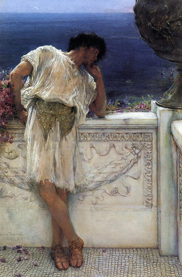 Sir Lawrence Alma-Tadema The Poet Gallus Dreaming - Canvas Art Print