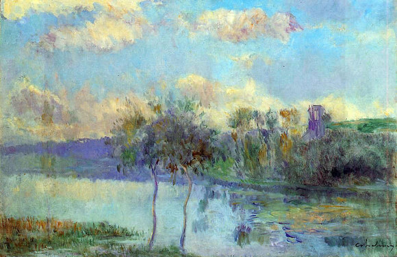 Albert Lebourg The Pond at Chalou-Moulineux, near Etampes - Canvas Art Print
