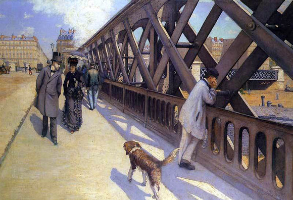 Gustave Caillebotte The Pont du Europe - Canvas Art Print