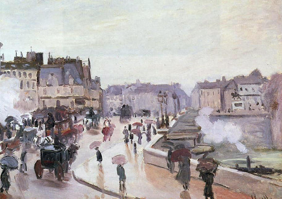 Claude Oscar Monet The Pont Neuf - Canvas Art Print