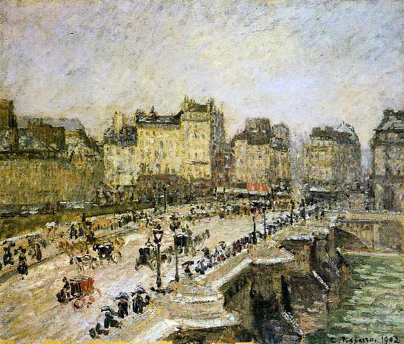 Camille Pissarro The Pont-Neuf: Snow - Canvas Art Print