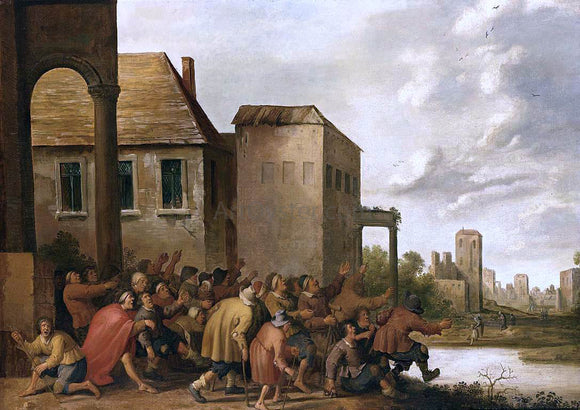 Joost Cornelisz Droochsloot The Pool of Bethesda - Canvas Art Print