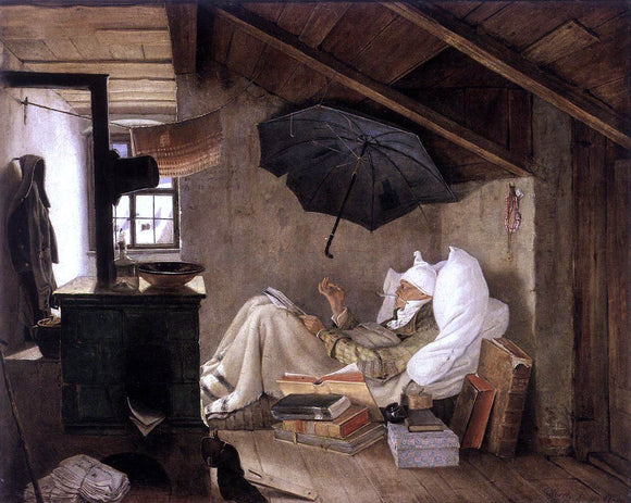 Carl Spitzweg The Poor Poet - Canvas Art Print