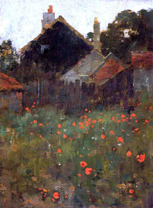 Willard Leroy Metcalf The Poppy Field - Canvas Art Print