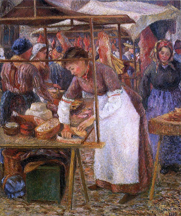 Camille Pissarro The Pork Butcher - Canvas Art Print
