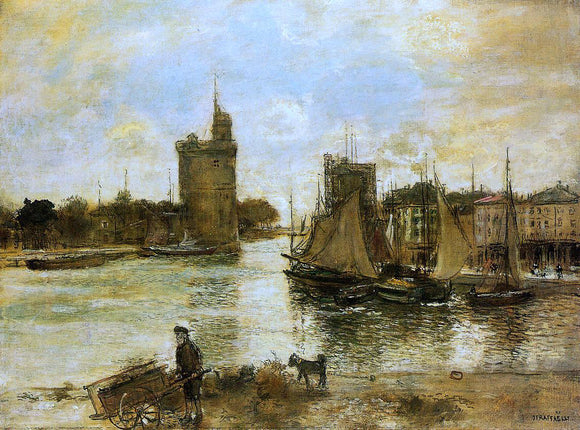 Jean-Francois Raffaelli The Port of La Rochelle in Autumn - Canvas Art Print