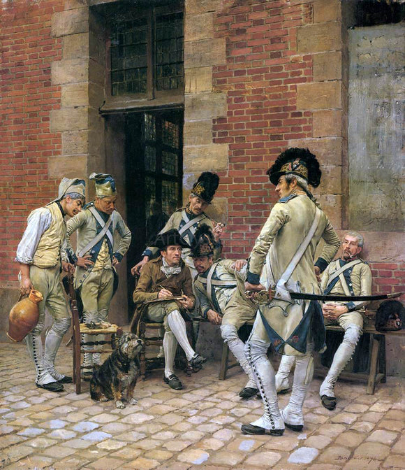 Jean-Louis Ernest Meissonier The Portrait of a Sergeant - Canvas Art Print