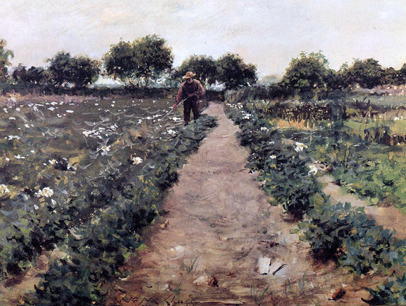 William Merritt Chase The Potato Patch (also known as Garden, Shinnecock) - Canvas Art Print