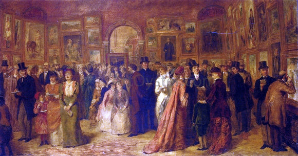 William Powell Frith The Private View, 1881 - Canvas Art Print