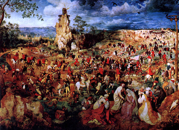 The Elder Pieter Bruegel The Procession to Calvary - Canvas Art Print
