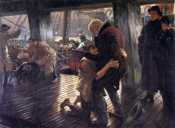 James Tissot The Prodigal Son in Modern Life: the Return - Canvas Art Print