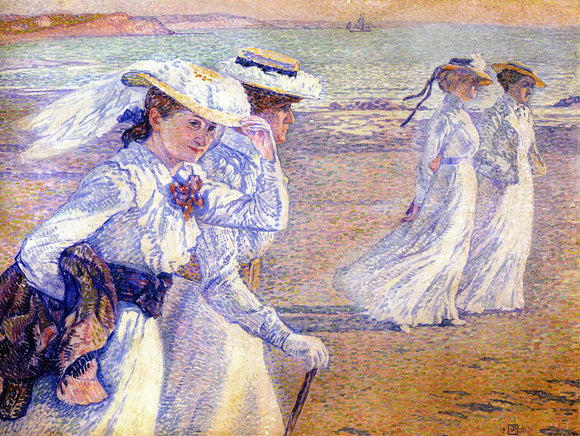 Theo Van Rysselberghe The Promenade - Canvas Art Print