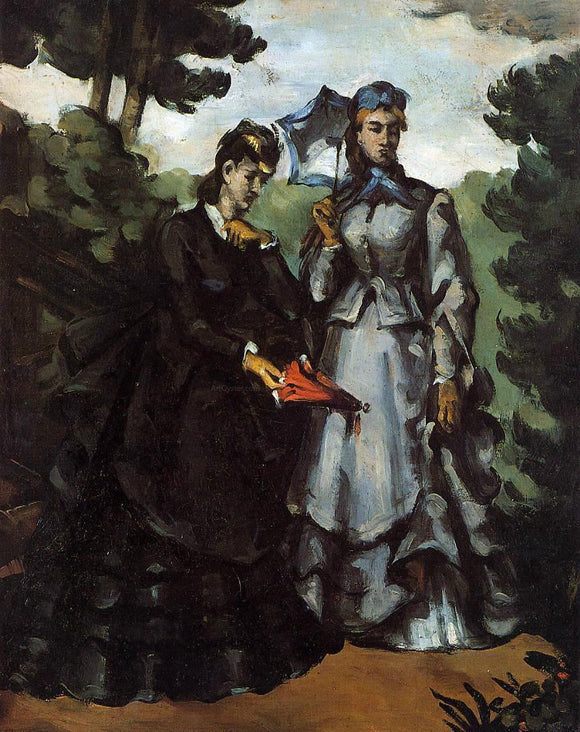 Paul Cezanne The Promenade - Canvas Art Print