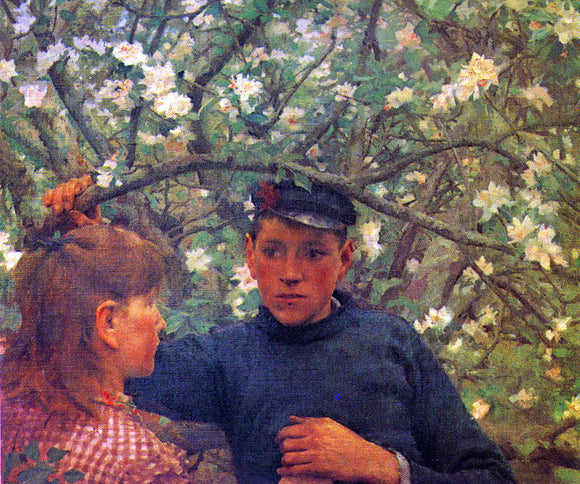 Henry Scott Tuke The Promise - Canvas Art Print