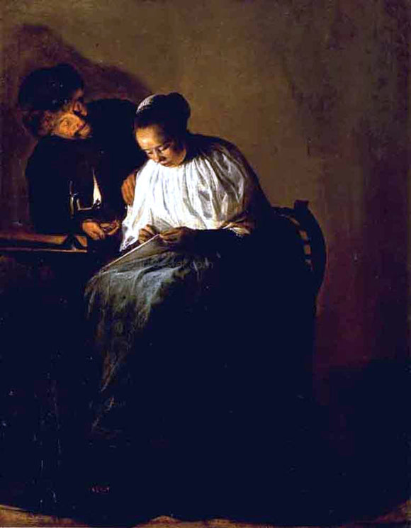 Judith Leyster The Proposition - Canvas Art Print