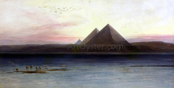 Edward Lear The Pyramids of Ghizeh - Canvas Art Print