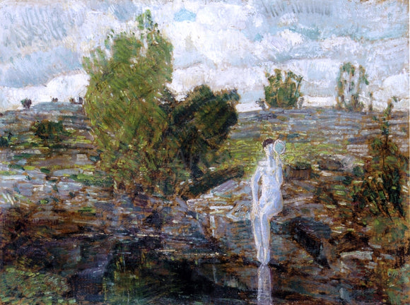Frederick Childe Hassam The Quarry Pool, Folly Cove, Cape Ann - Canvas Art Print