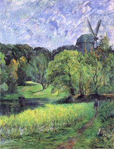 Paul Gauguin The Queen's Mill, Austervold - Canvas Art Print