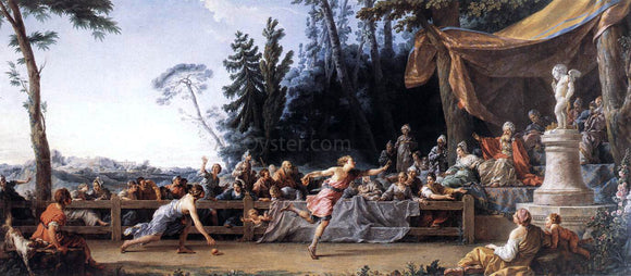 Noel Halle The Race Between Hippomenes and Atalanta - Canvas Art Print