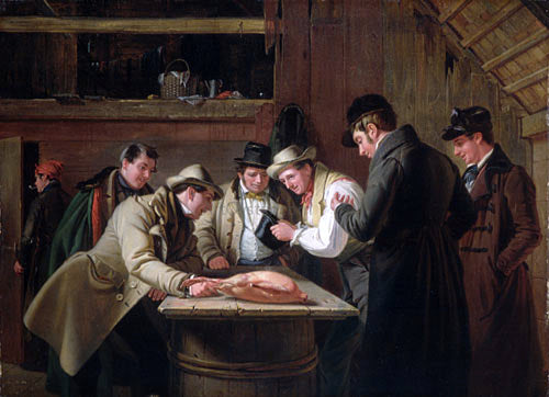 William Sidney Mount The Raffle (Raffling for the Goose) - Canvas Art Print