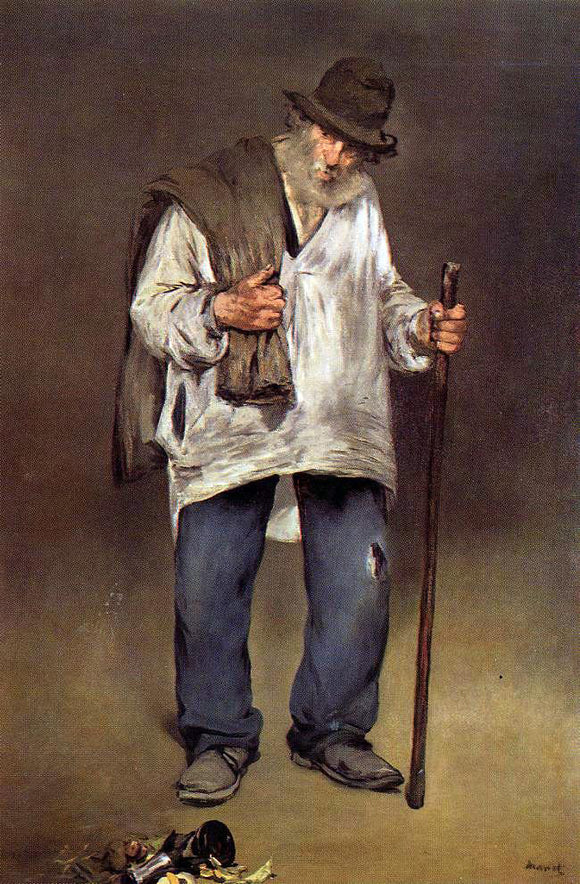 Edouard Manet The Ragpicker - Canvas Art Print
