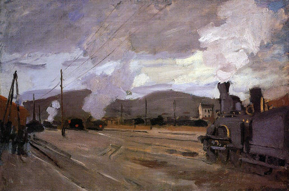 Claude Oscar Monet The Railroad Station at Argenteuil - Canvas Art Print